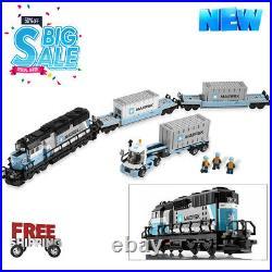 New Maersk Train 10219 MOC Building Blocks Set Toy Model Good Quality Bricks Kit