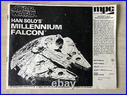 New Unopened Rare Complete 1979 Han Solo's Star Wars Millennium Falcon Model Kit