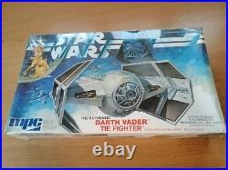 Original Vintage Sealed MPC Star Wars Darth Vader Tie Fighter Model Kit MISB