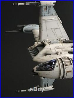 PRO BUILT Rebel B-Wing Starfighter with FULL LIGHTING Prop Replica Star Wars