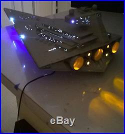 Professional Built Zvezda Star Destroyer With Led Lighting