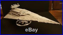 Professionally built Star Wars Imperial Star Destroyer with custom acrylic base