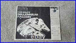 Rare 1979 Han Solo's Star Wars Millennium Falcon Mpc Model Kit