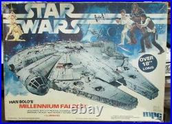 Rare 1979 Han Solo's Star Wars Millennium Falcon Mpc Model Kit Complete In Box