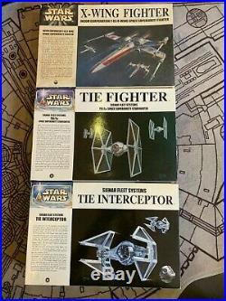 Rare Star Wars FineMolds 1/72 X-Wing TIE Fighter & TIE Interceptor Model Kit