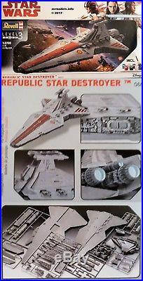 Revell 1/2700 Star Wars Republic Star Destroyer Plastic Model Kit 06053 Disney