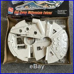 STAR WARS, 1996, AMT Cut-Away Millennium Falcon Model Kit, NEW, Han Solo