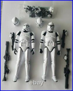 Star Wars 6 Inch Bandai Model Kit Clone Trooper Figures 112 Built