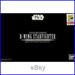 Star Wars BANDAI B-Wing Starfighter 1/72 Scale Plastic Model Kit Limited Edition