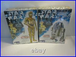 Star Wars C-3p0 & R2 D2 Mpc Model Kits 1978 New Sealed Vintage Canada Variant