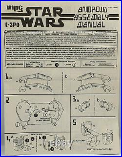 Star Wars C-3po Model Kit Made By Kenner In 1977. German Box / Uk Instructions