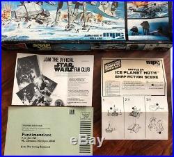 Star Wars Empire Strikes Back Snap Action Scene Model Kit 1981 Ice Plant Hoth