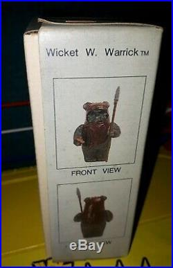 Star Wars Ewok Wicket Action Figure Model Toy Kit Collectible 1984 Rotj Rare