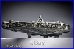 Star Wars Han Solo's Millennium Falcon Spaceship. Built Painted Model 172 Scale
