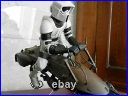 Star Wars Imperial Speeder Bike with Scout Flight display model built painted