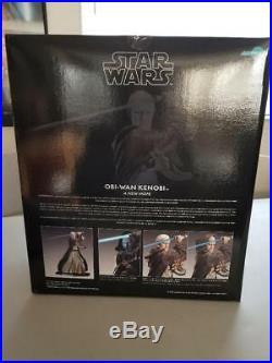 Star Wars Kotobukiya ARTFX 1/7 scale Obi Wan Kenobi Pre Painted Model Kit NIB