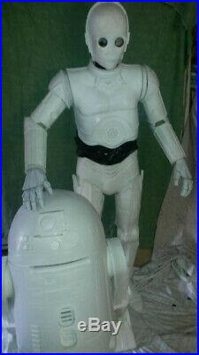 Star Wars Life Size r2d2 and c3p0 model kits last offered