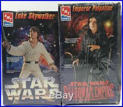 Star Wars Luke Skywalker & The Emperor Model Kits Made By Amt / Ertl In 1995