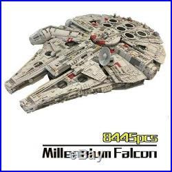 Star Wars Millennium Falcon + Stand Legoed Blocks Educational Toys Model Kit