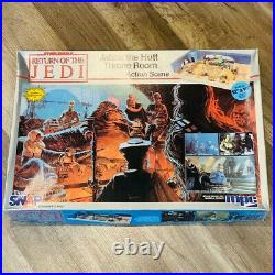 Star Wars Model kit MPC 1983 vtg Jabba Hutt Throne Room Action Scene figures box