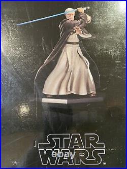Star Wars Obi Wan Kenobi Artfx Statue. 1/7 Scale PrePainted Model kit Damaged Box