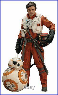 Star Wars Poe Dameron & Bb-8 Pre-painted Artfx+ Model Kit (kotobukiya)