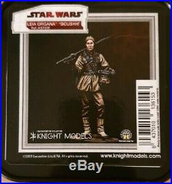 Star Wars Princess Leia in boushh outfit 70mm Knight Models Limited Edition