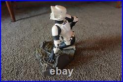 Star Wars Scout Trooper 1/7 Scale Soft Vinyl Model Kit ArtFX 2005 USED