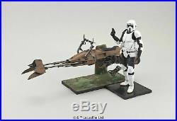 Star Wars Scout Trooper & Speeder Bike 1/12 scale Model kit Bandai Japan NEW