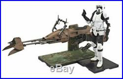 Star Wars Scout Trooper & Speeder Bike 1/12 scale plastic model