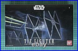 Star Wars TIE Fighter 1/72 Scale Model Kit by Bandai BNIB