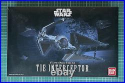Star Wars TIE Interceptor 1/72 Scale Model Kit by Bandai BNIB