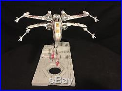 Star Wars X-Wing 1/72 Model Bandai FULLY BUILT & PAINTED + DEATH STAR BASE