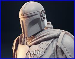 The Mandalorian Custom Star Wars Resin Model Kit Figure 1/6 30cm