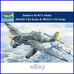 Trumpeter 02420 03213 1/24 1/32 German Junkers Ju-87A Stuka Dive Bomber Model