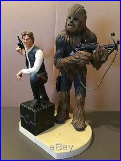 Used Star Wars Han Solo Chewbacca Pre Painted 1 7 Scale