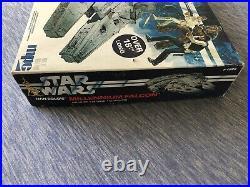 Vintage MPC Star Wars Han Solo's Millennium Falcon Illuminated Model Kit 1-1925