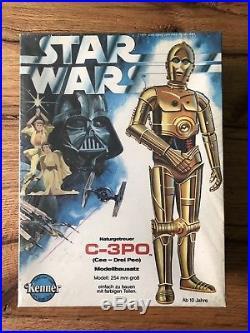 Vintage Star Wars German Krieg Der Sterne MISB C-3PO Modellbausatz OVP Model Kit